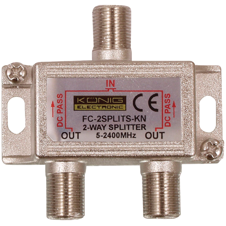 König FC-2SPLT-ST-KN pasivní anténní rozbočovač 5-2400 MHz 6.5 dB - 2x výstup