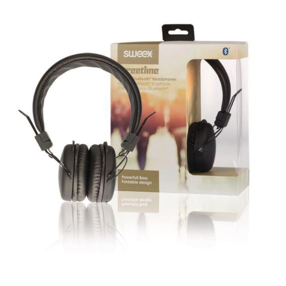 Sweex Streetline bluetooth bezdrátová sluchátka černá, SWHPBT100B