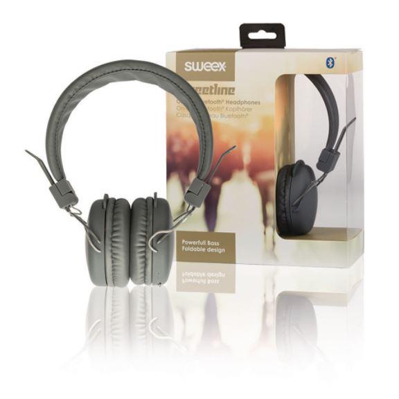 Sweex Streetline bluetooth bezdrátová sluchátka šedá, SWHPBT100G