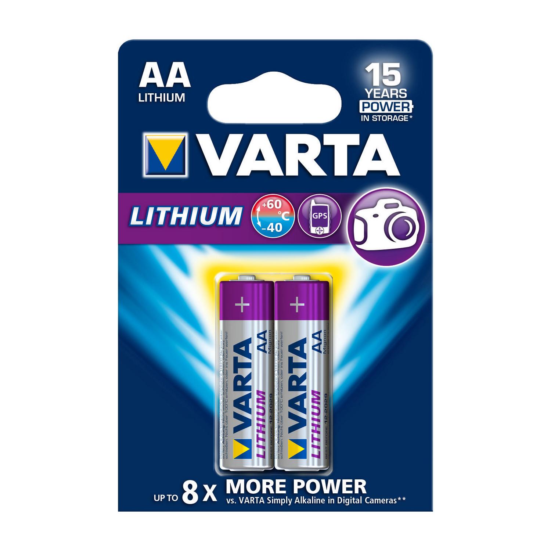 Lithiová baterie Varta Lithium AA 1.5V, 2ks, VARTA-6106/2B