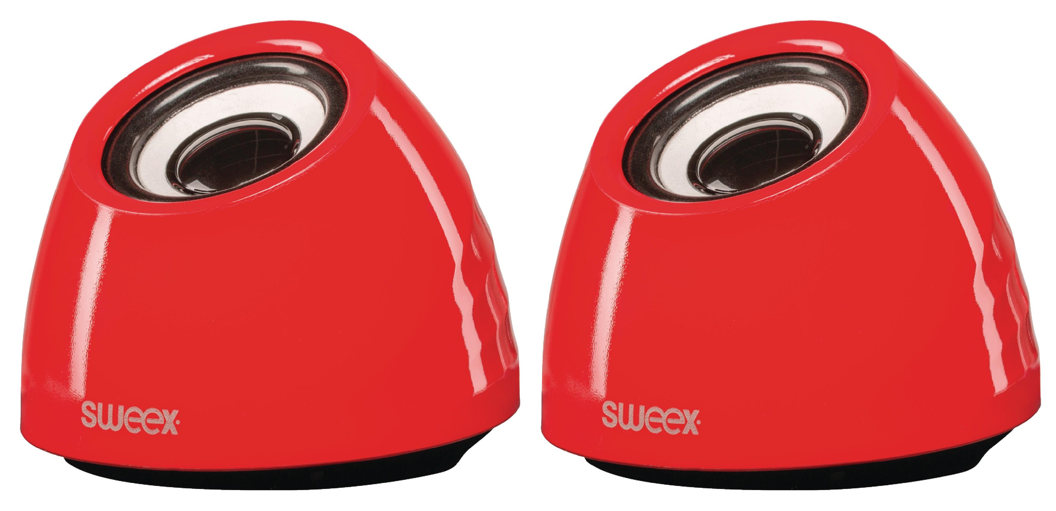 Stereo reproduktory 6W, USB, jack 3.5mm, červené Sweex SW20SPS100RD