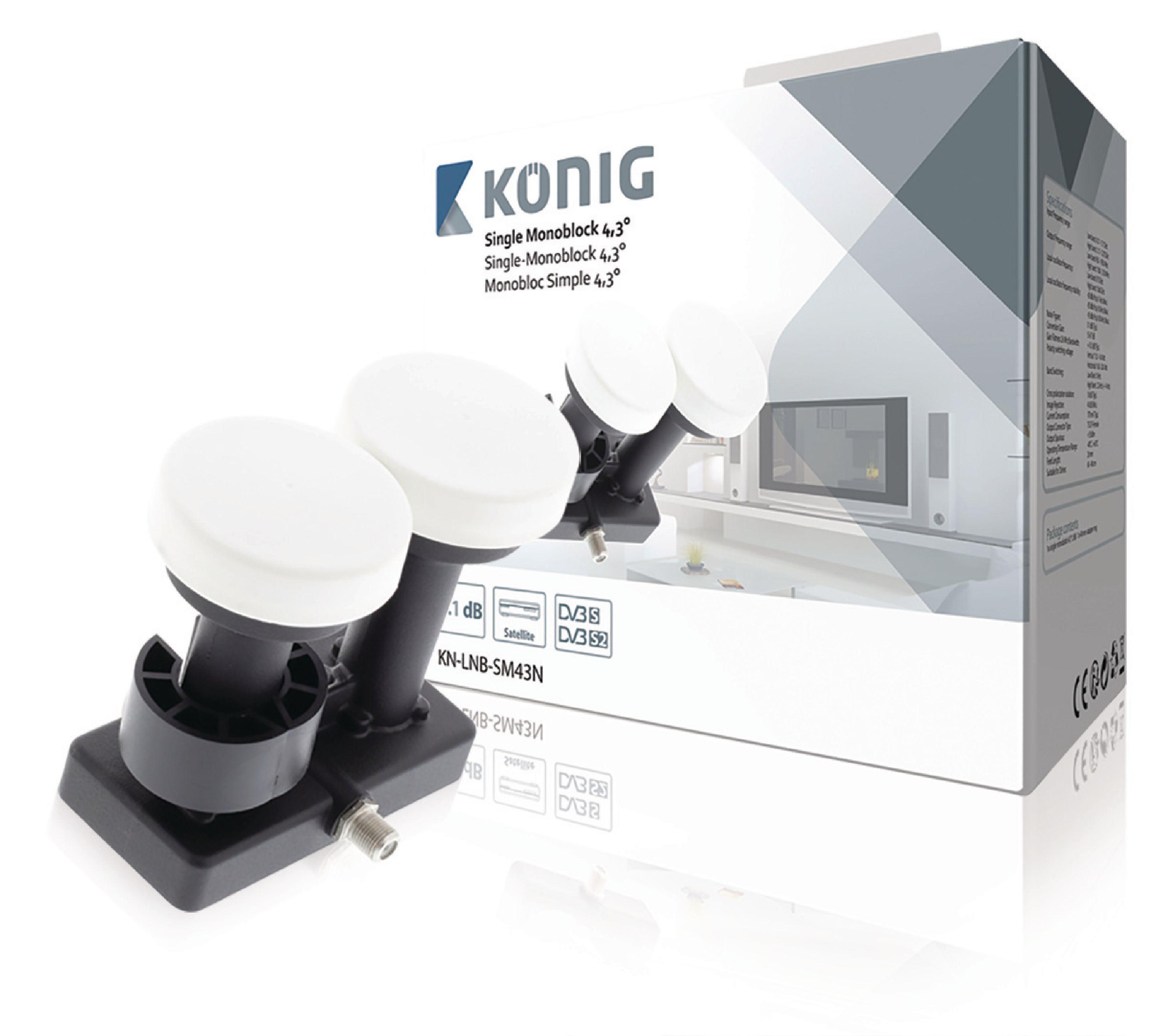 LNB Single Monoblok 4.3° 1.1 dB