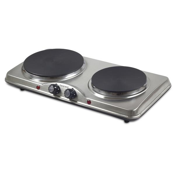 BEPER 90825 dvouplotýnkový nerez elektrický vařič 1500W