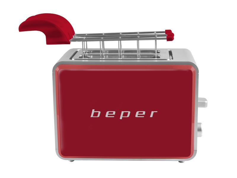 BEPER BT001-R topinkovač/toastovač, 750W, červený