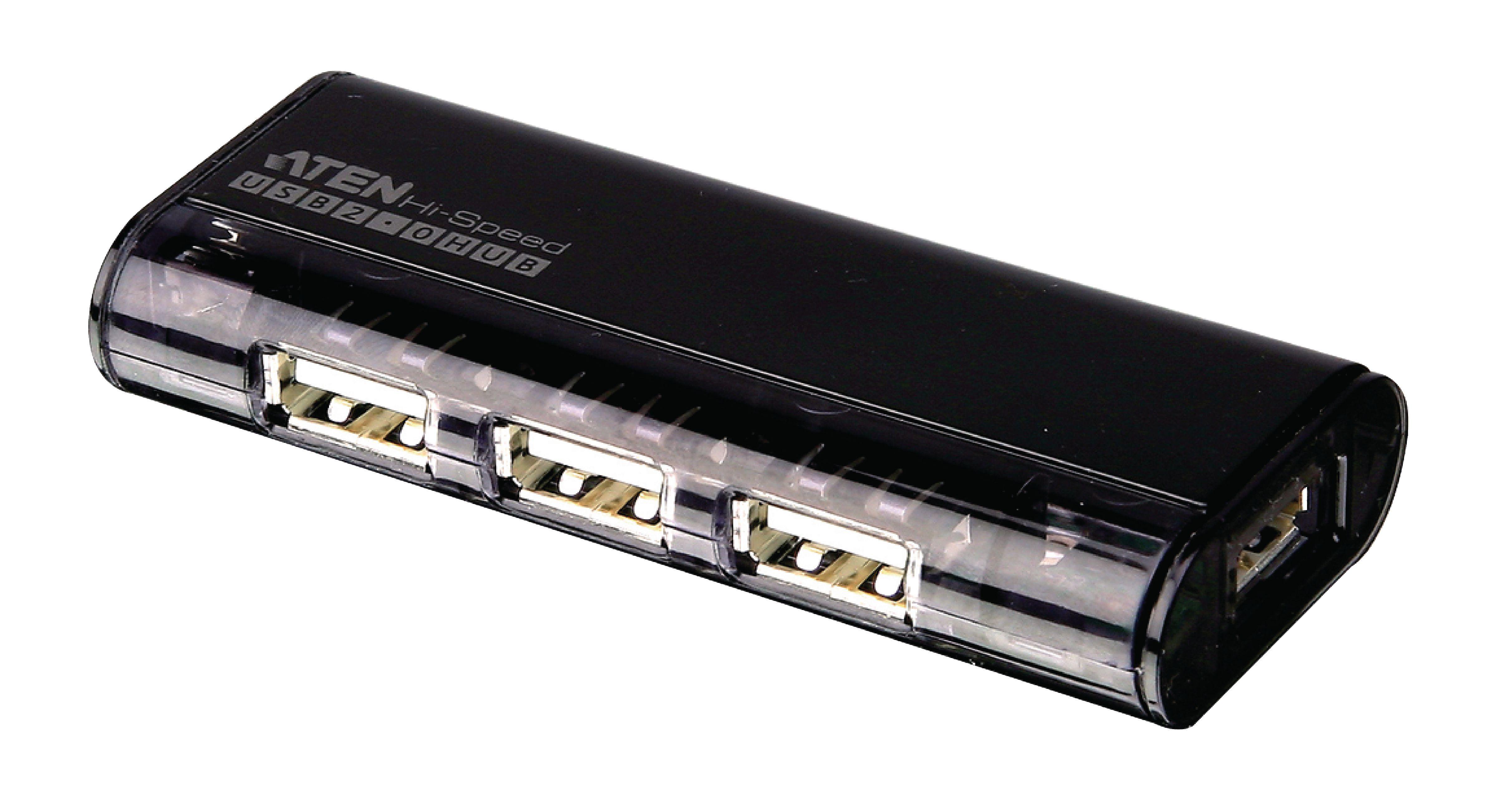4-Port USB2.0 HUB Černá