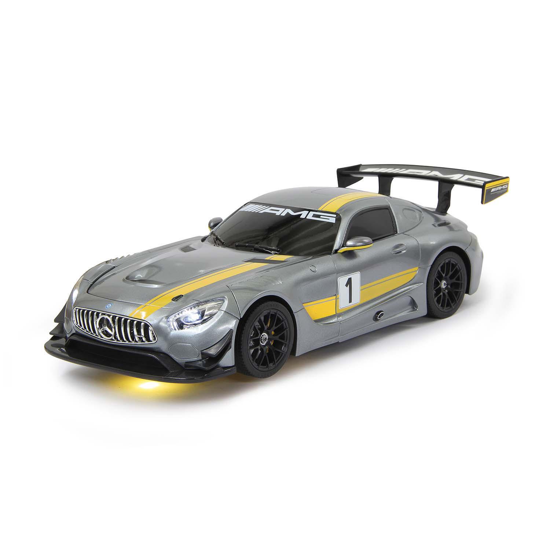 Mercedes AMG GT3 transformer na dálkové ovládání 2.4 GHz, měřítko 1:14, šedý, Jamara