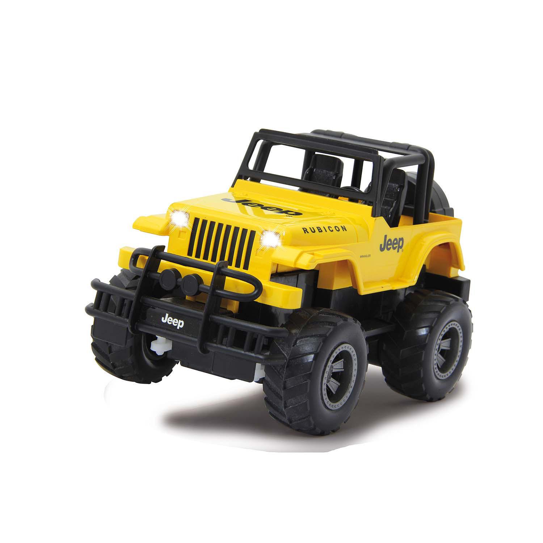 Jeep Wrangler Rubicon na dálkové ovládání 2.4 GHz, měřítko 1:18, žlutý, Jamara JAM-405124