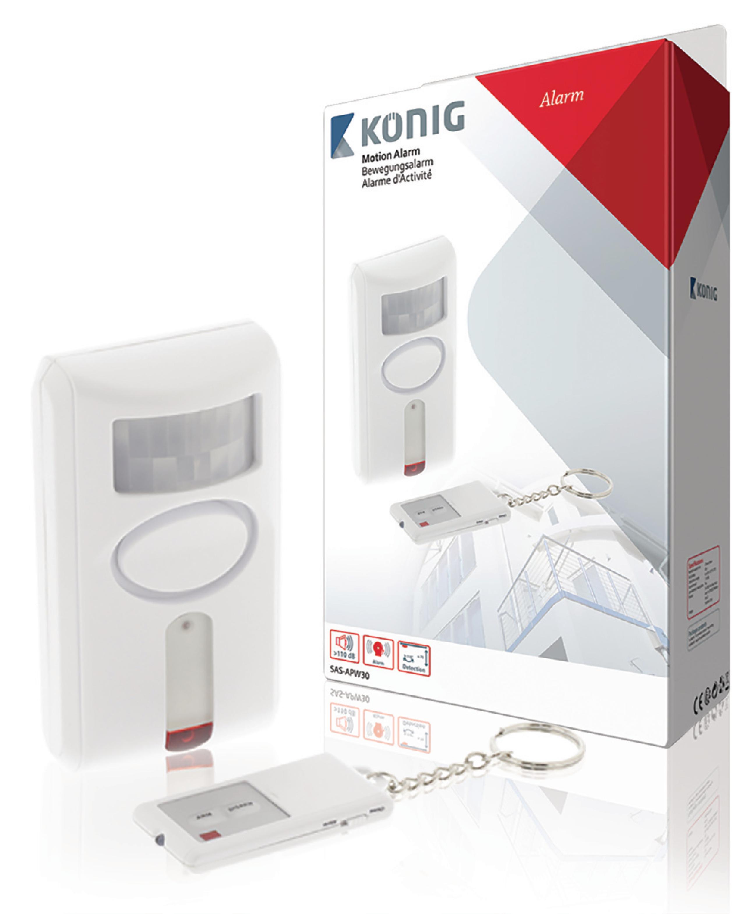 Pohybové čidlo s alarmem 110 dB / 110 °