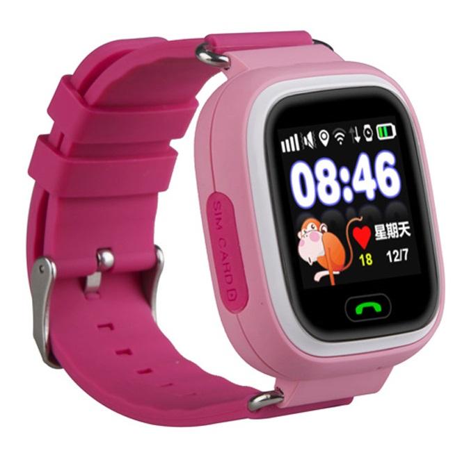 HELMER dětské hodinky LK 703 s GPS lokátorem/ dotykový display/ micro SIM/ IP54/ kompatibilní s Android a iOS/ růžové + Dárek ZDARMA - SIM karta…