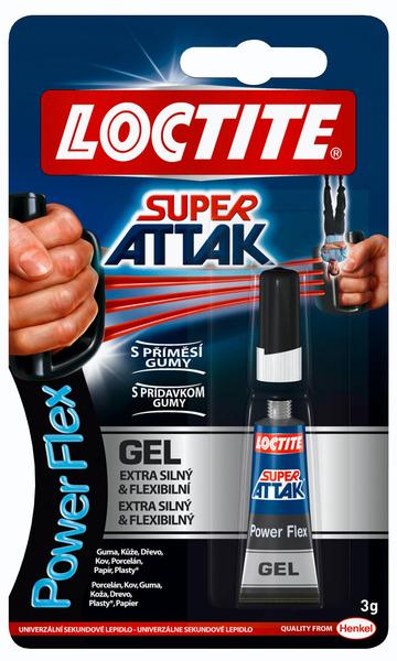 LOCTITE sekundové lepidlo Super Attak Power Flex Gel (3 g)