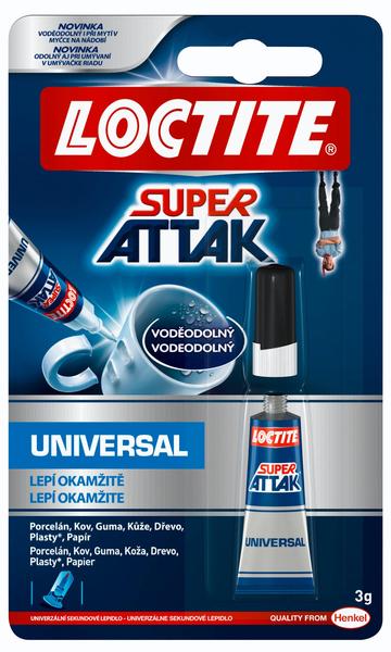 LOCTITE sekundové lepidlo Super Attak Universal (3 g)
