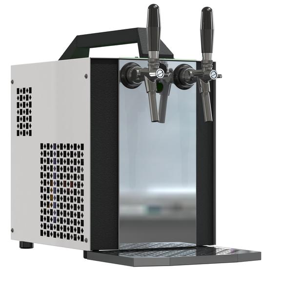 Výčepní zařízení Sinop AK40 dvoukohoutové s vestavěným vzduchovým kompresorem