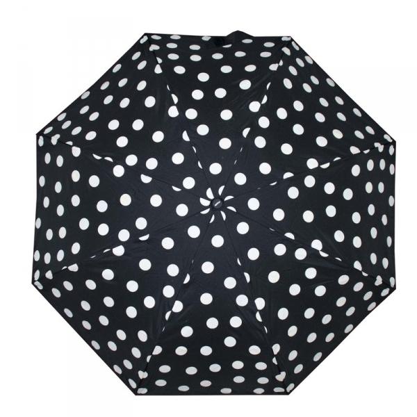 Doppler Fiber Magic - Magic Dots plně automatický dámský deštník 7441465M