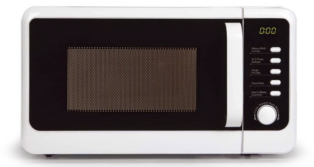 Mikrovlnná trouba s grilem edice retro - DOMO DO2013G, bílá, digitální, 20l