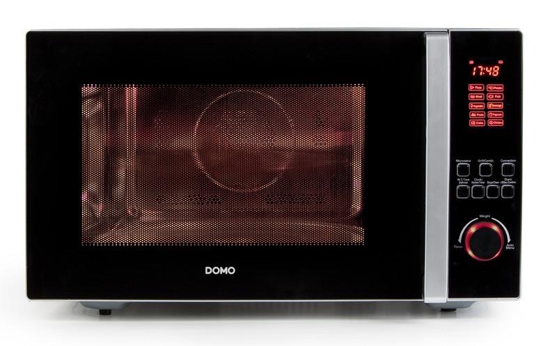 Kombinovaná mikrovlnná a horkovzdušná trouba s grilem - DOMO DO2342G, 42l, nerez