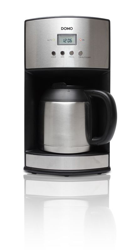 Kávovar s časovačem a termokonvicí - DOMO DO474KT , 1,2l