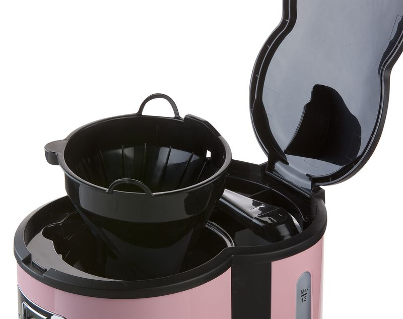 Kávovar s časovačem - DOMO DO477K, růžový