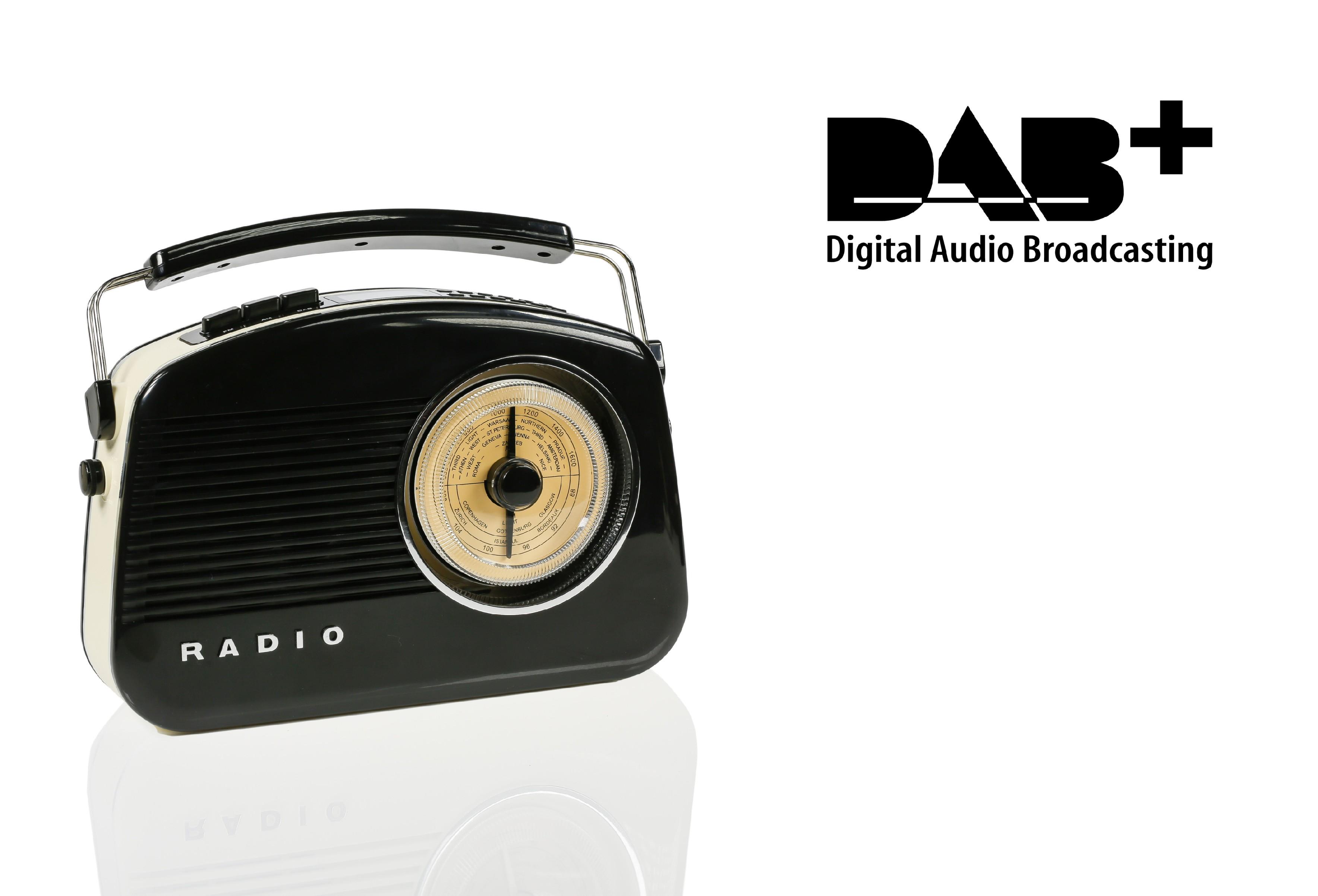 König retro radiopřijímač DAB+ / FM / AM / AUX