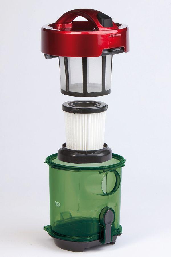 Bezsáčkový vysavač 2000W Eco - DOMO DO7279S, červená metalíza, příkon: 1000 W