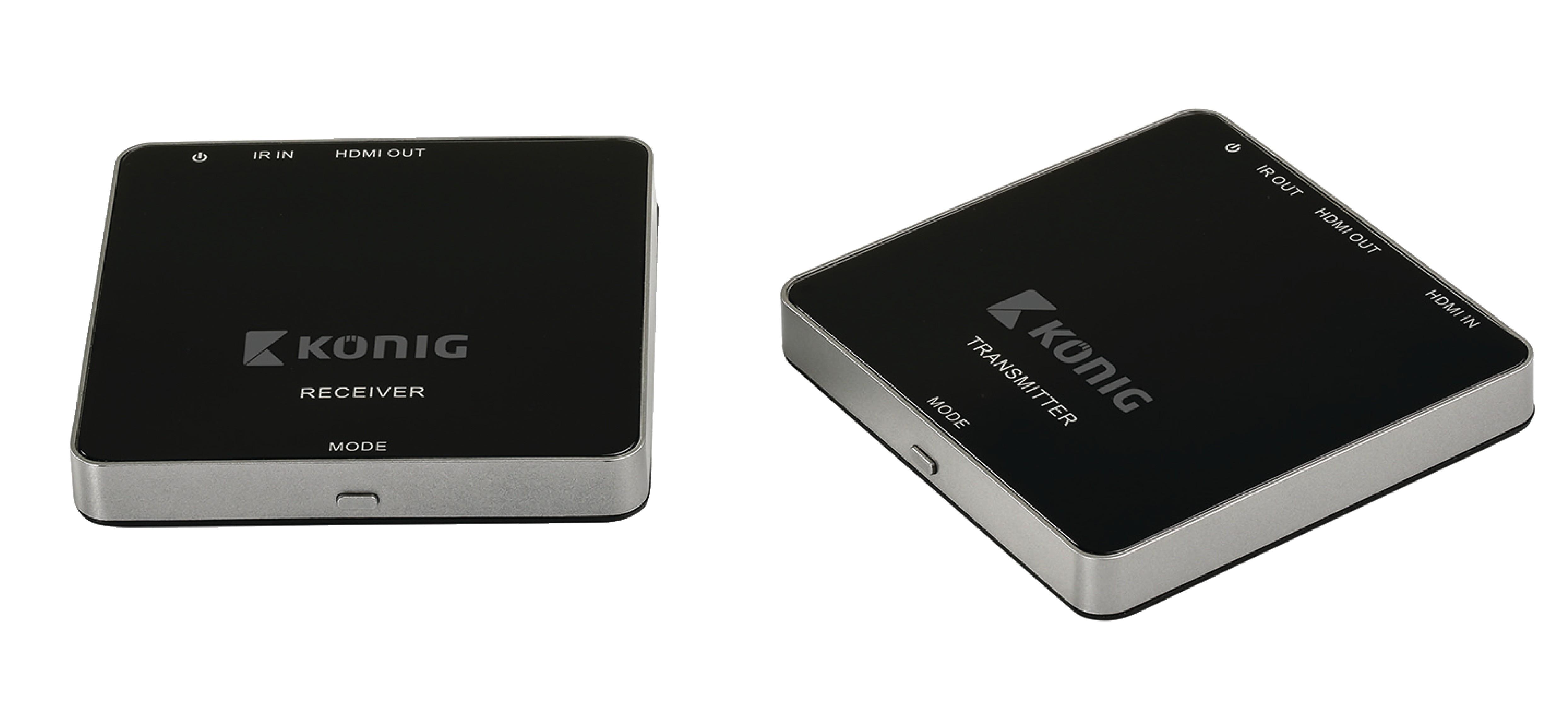 5 GHz bezdrátový transmitter HDMI 1080p do 30 m, König KN-WLHDMI10