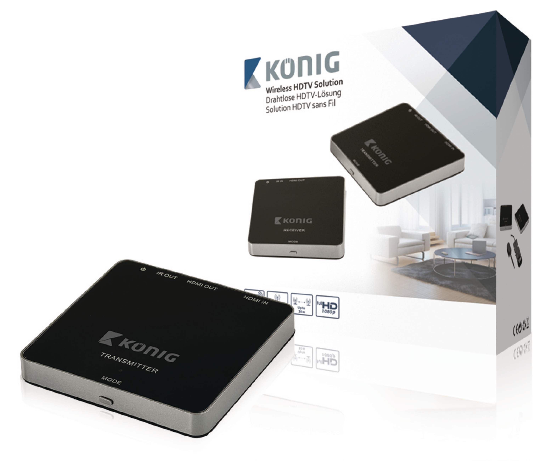 5 GHz bezdrátový přenos HDMI 1080p do 30 m