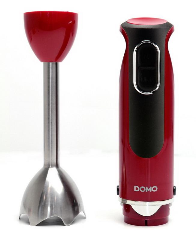 Tyčový mixér - červený - DOMO DO9026M, 400W, nerez