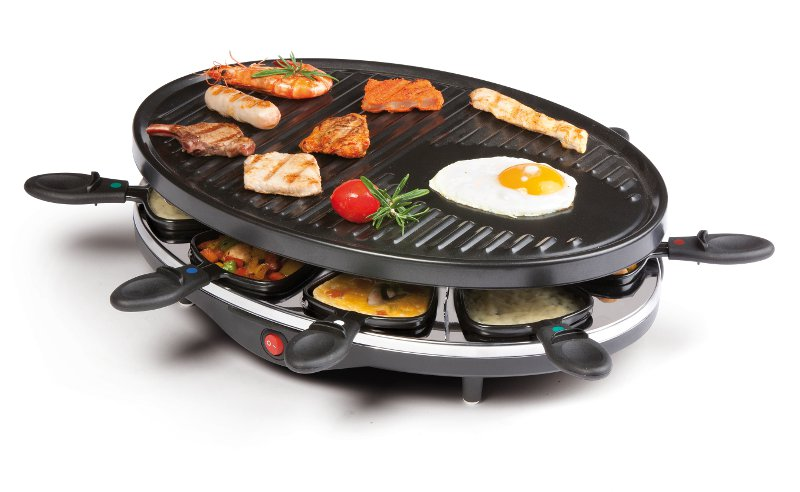 Raclette gril pro 8 osob - DOMO DO 9038 G