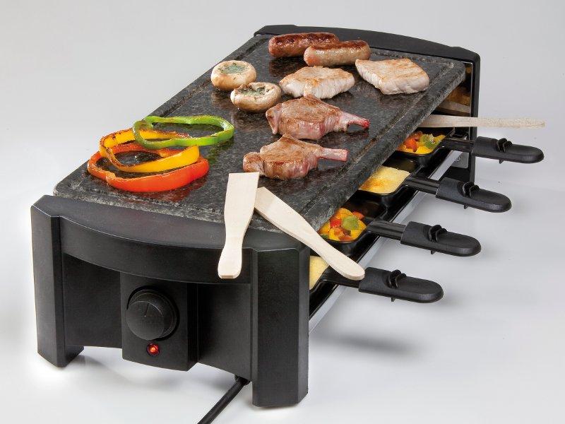 Raclette gril z přírodního kamene - DOMO DO 9039 G, pro 8 lidí