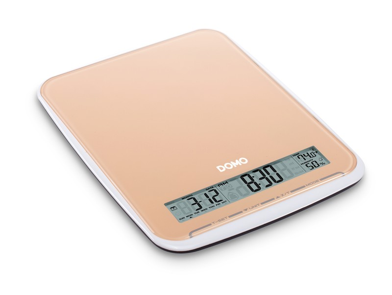 Kuchyňská váha do 10 kg - oranžová- DOMO DO9106W, skleněná
