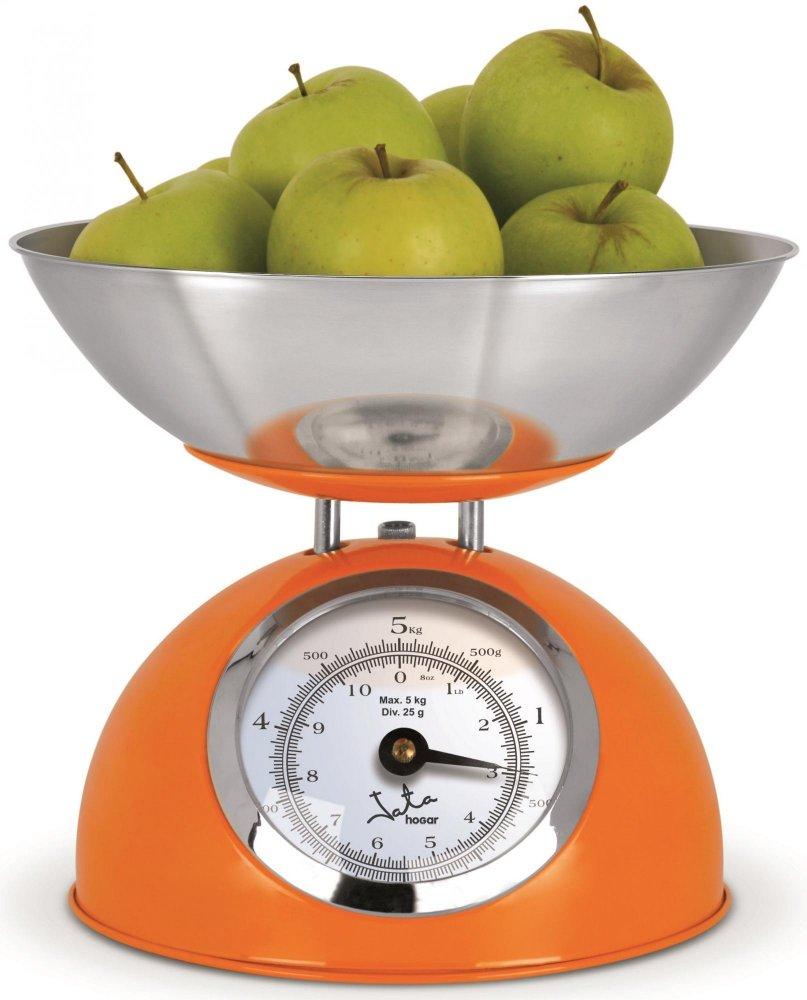 Mechanická kuchyňská váha Jata 612NA, oranžová, retro design