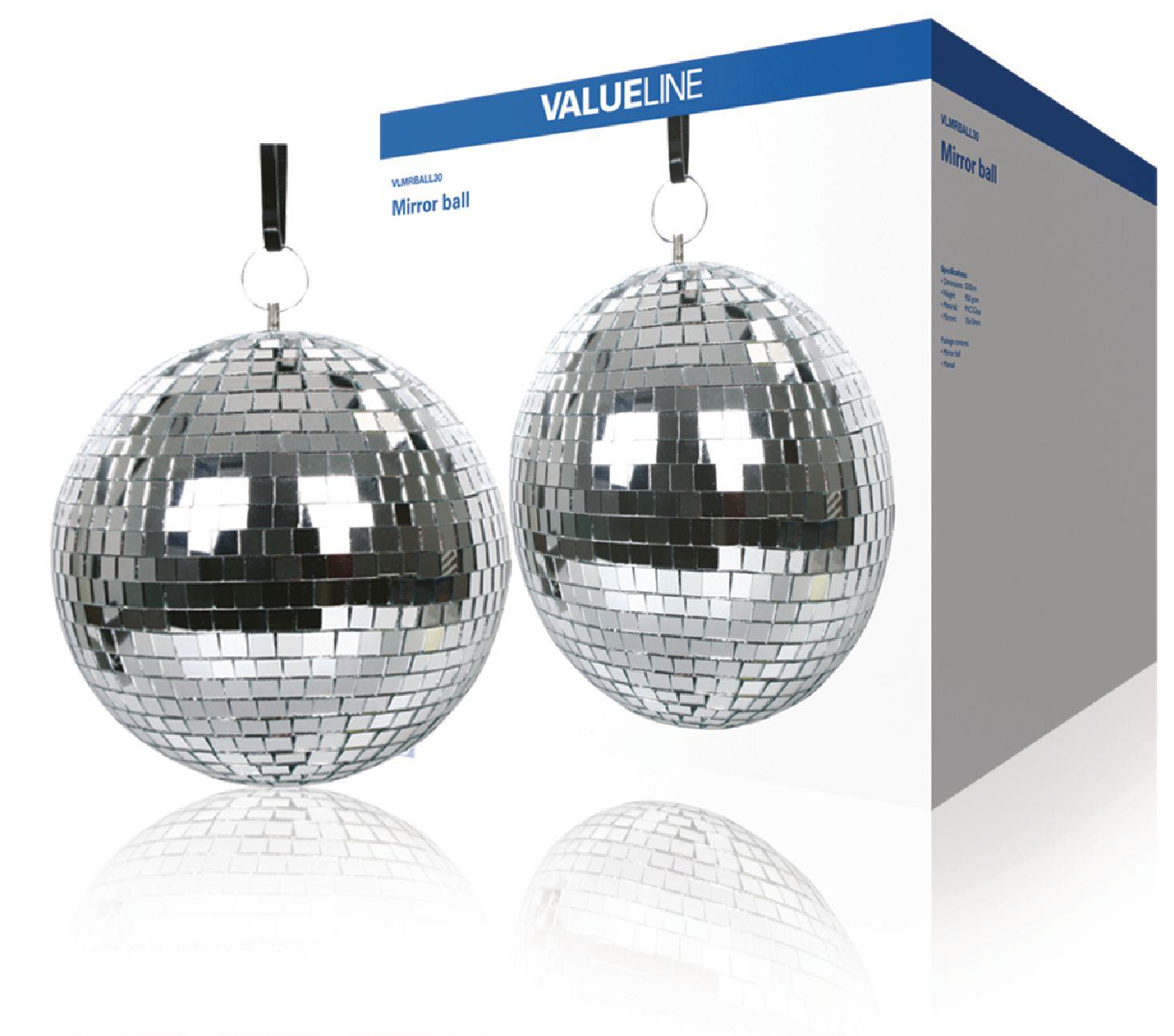 Zrcadlová disco koule 30 cm Valueline VLMRBALL30