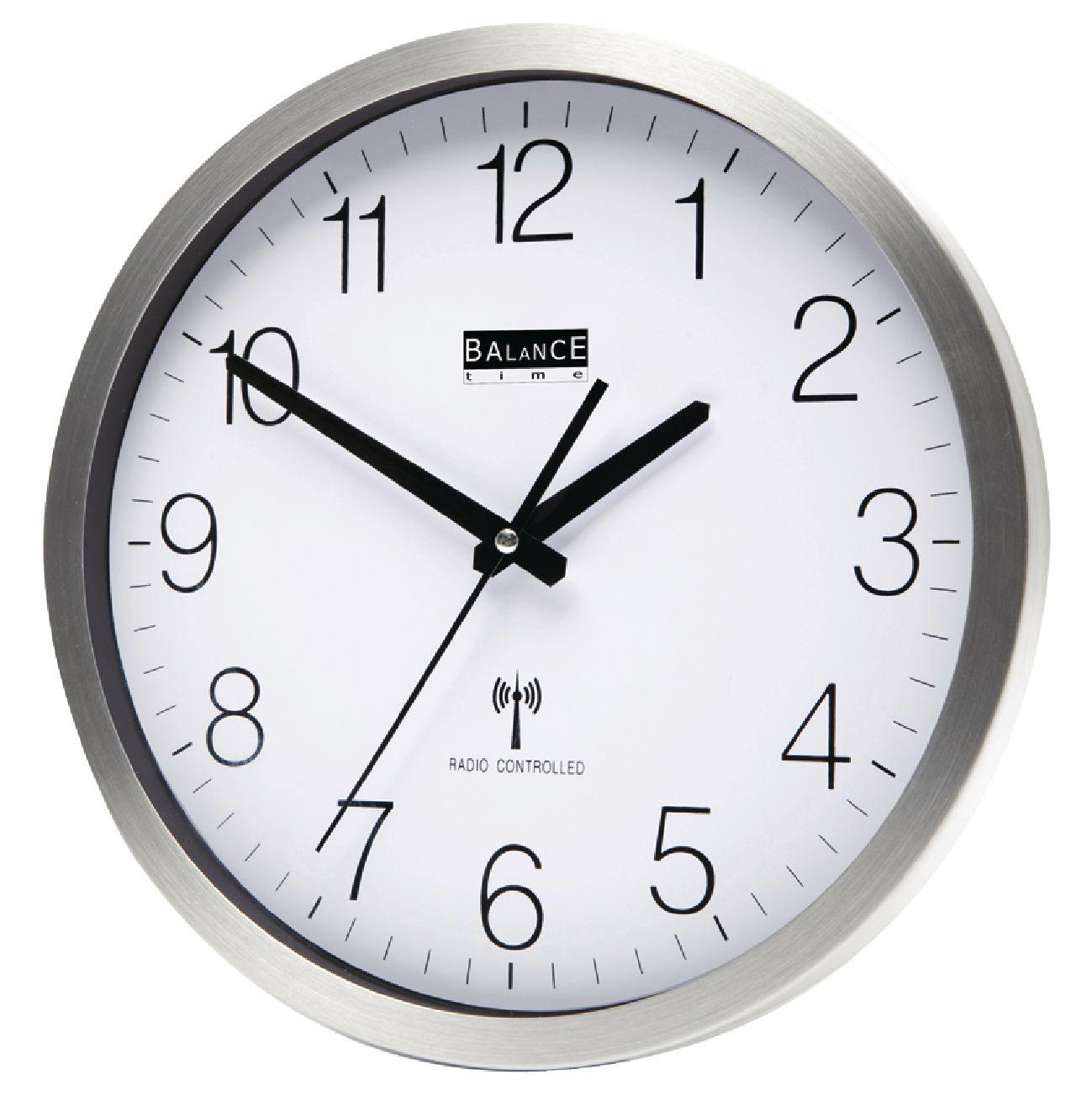 Rádiem řízené nástěnné hodiny 30 cm Balance 816438