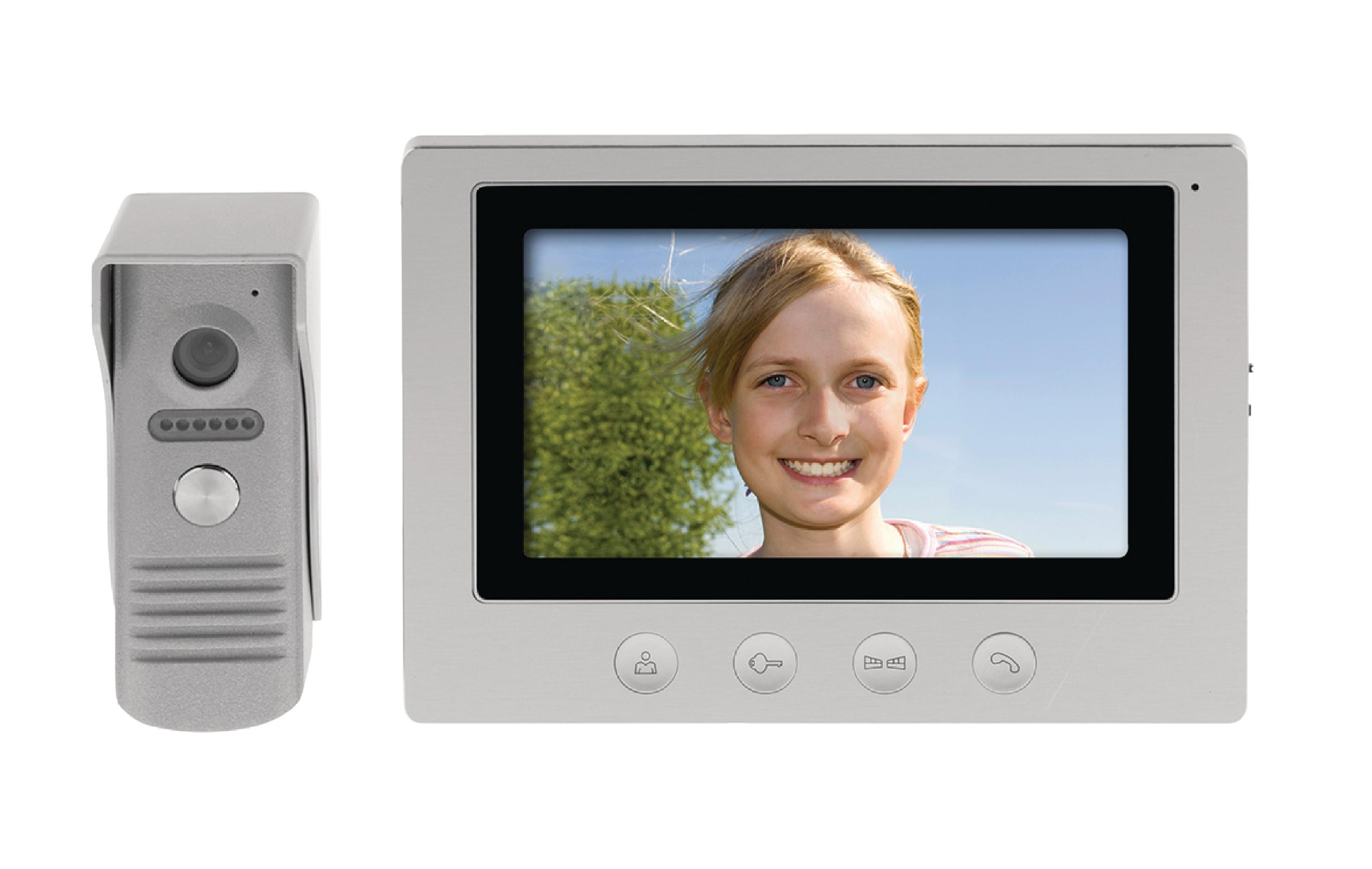 """Dveřní videotelefon 7"""" LCD König SAS-VDP100"""