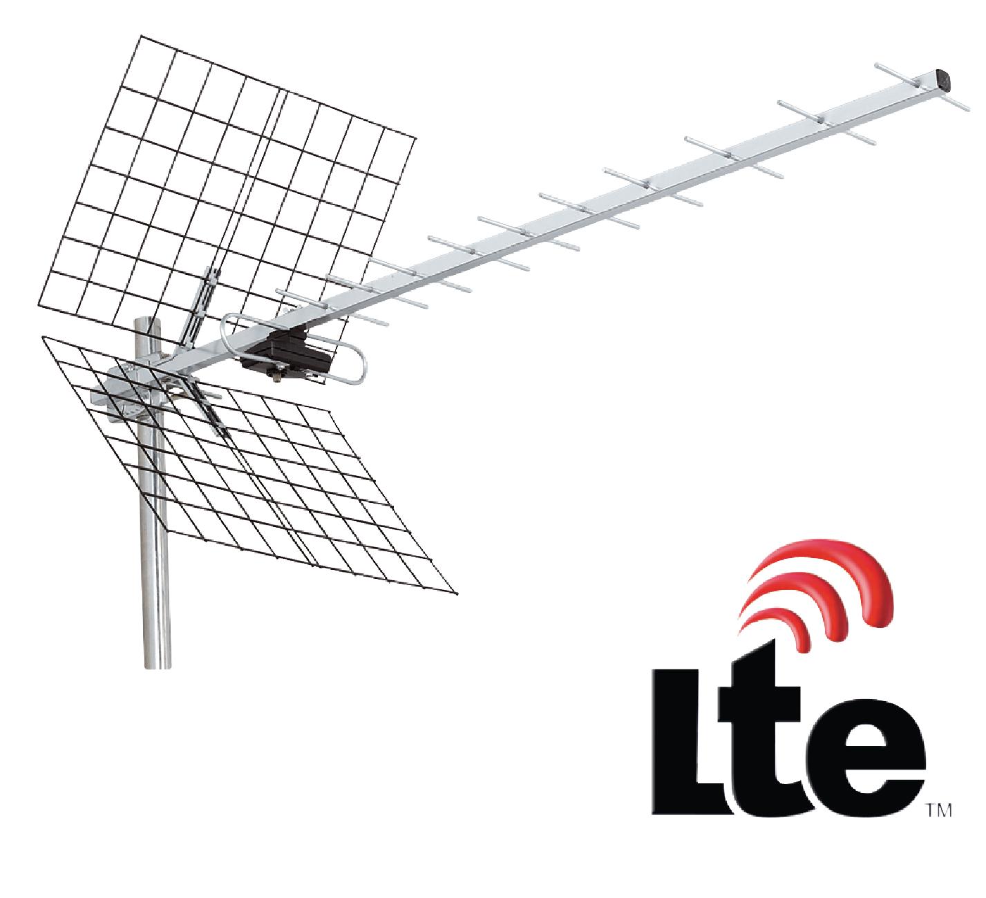 Anténa König UHF DVB-T/T2 LTE 12 dB