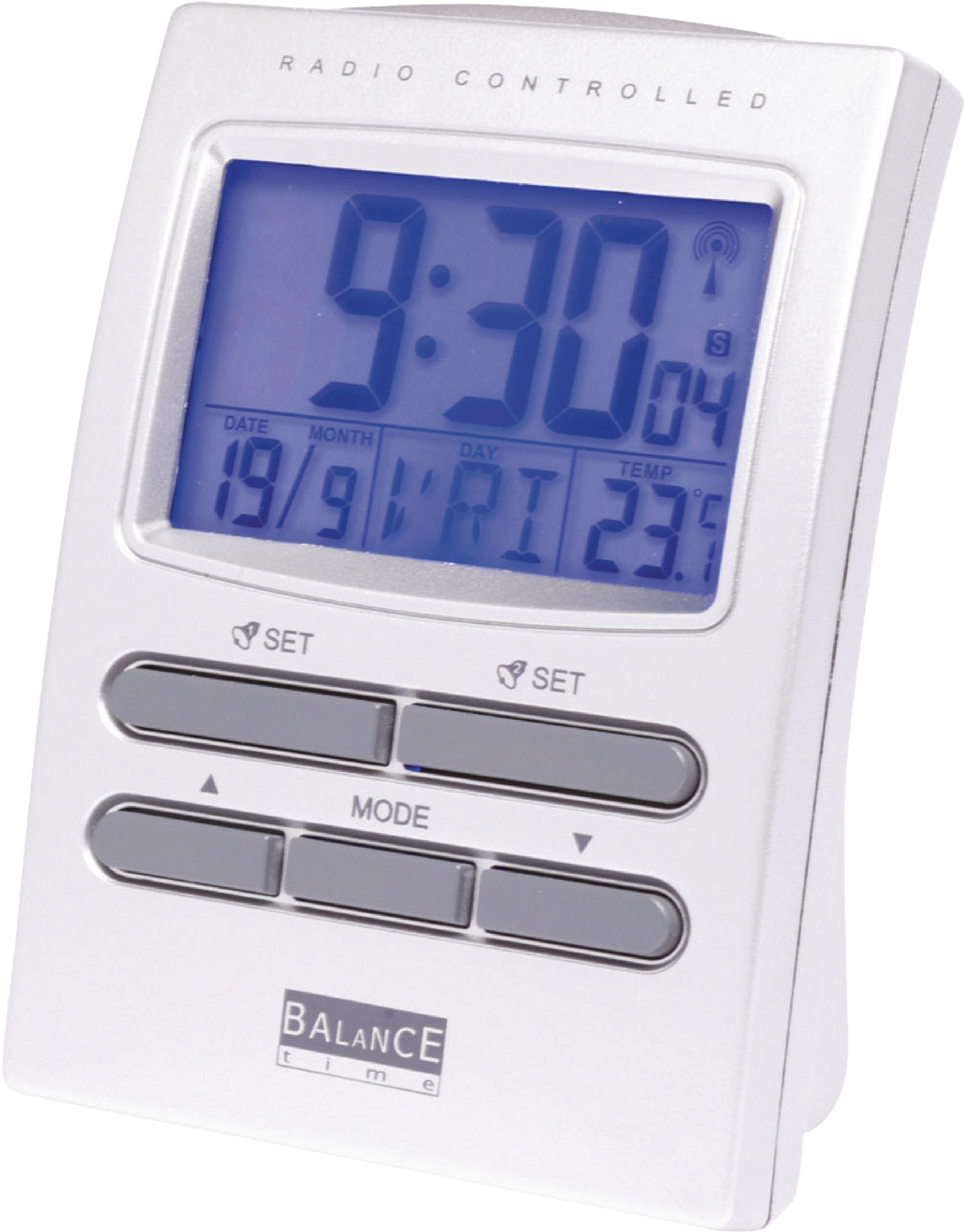 Rádiem řízený digitální LCD budík s teploměrem Balance 622415