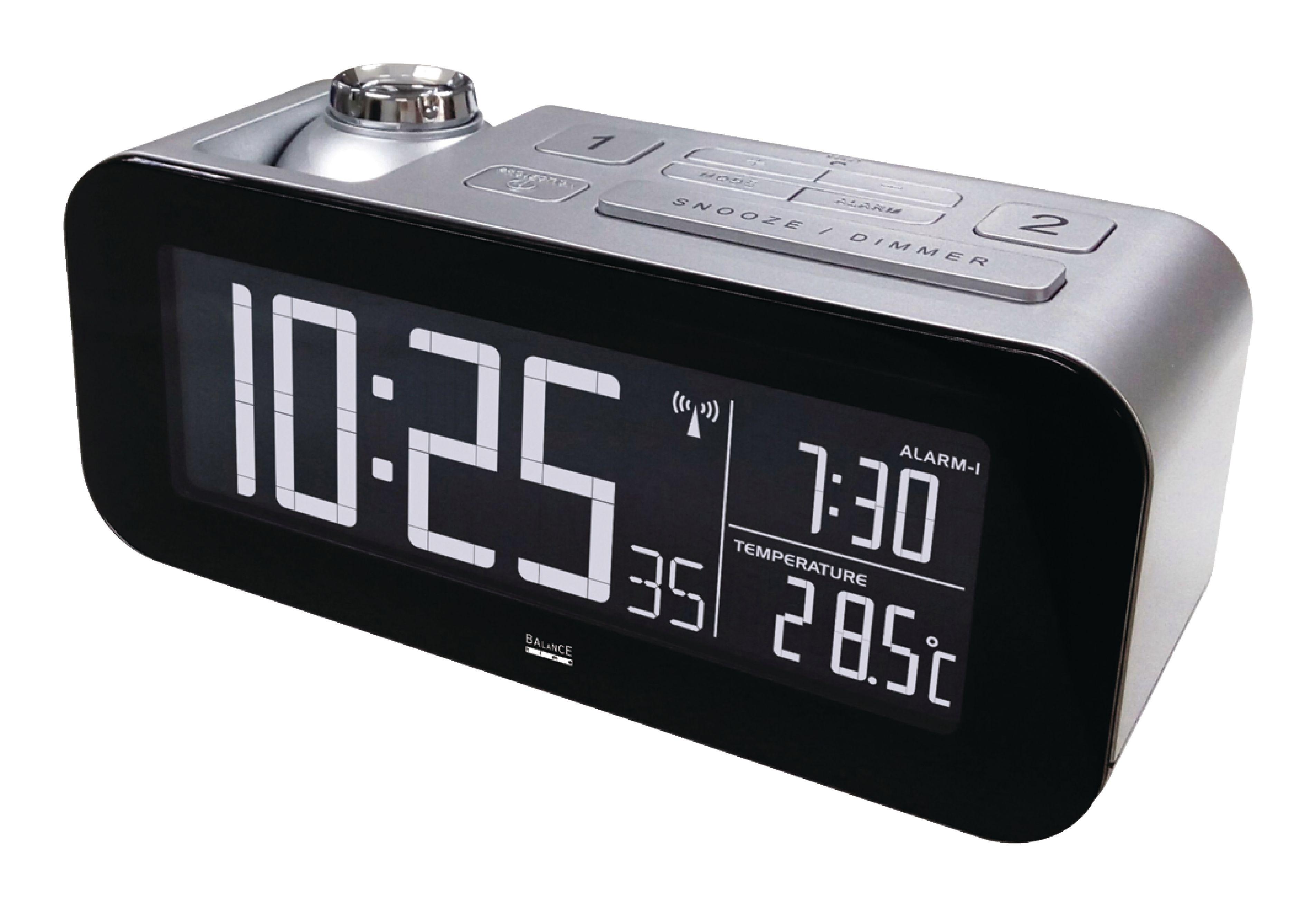 Rádiem řízený digitální LCD budík s projekcí času, Balance 862458