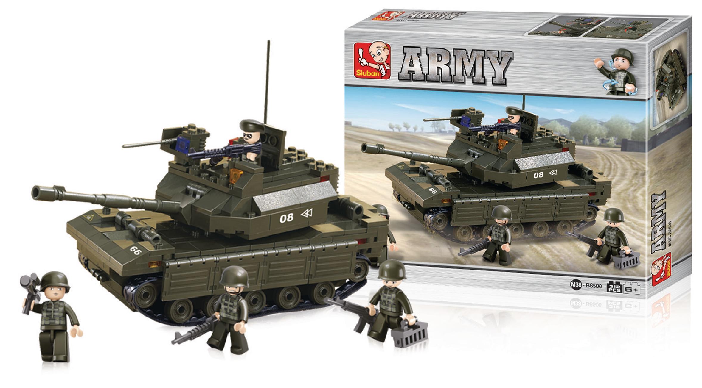 Stavebnicové Kostky Army Serie Tank, M38-B6500