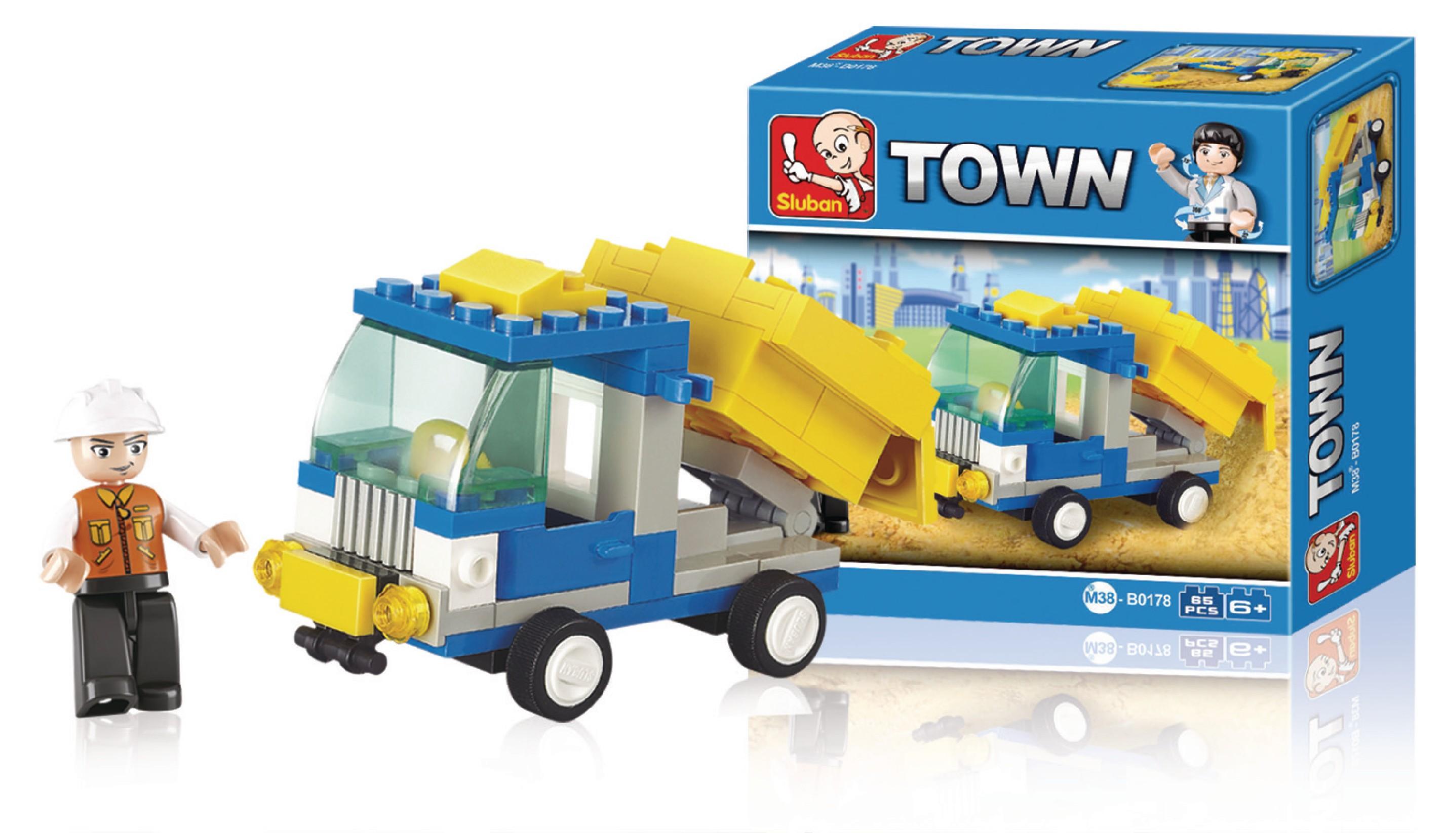 Stavebnicové Kostky Town Serie Popelářský Vůz