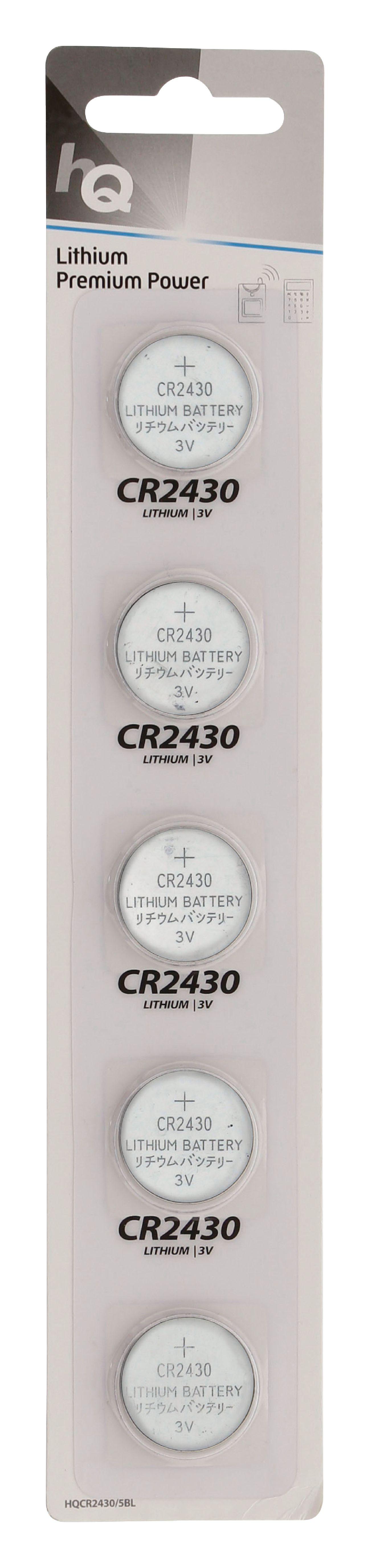 HQ lithiové knoflíkové baterie CR2430