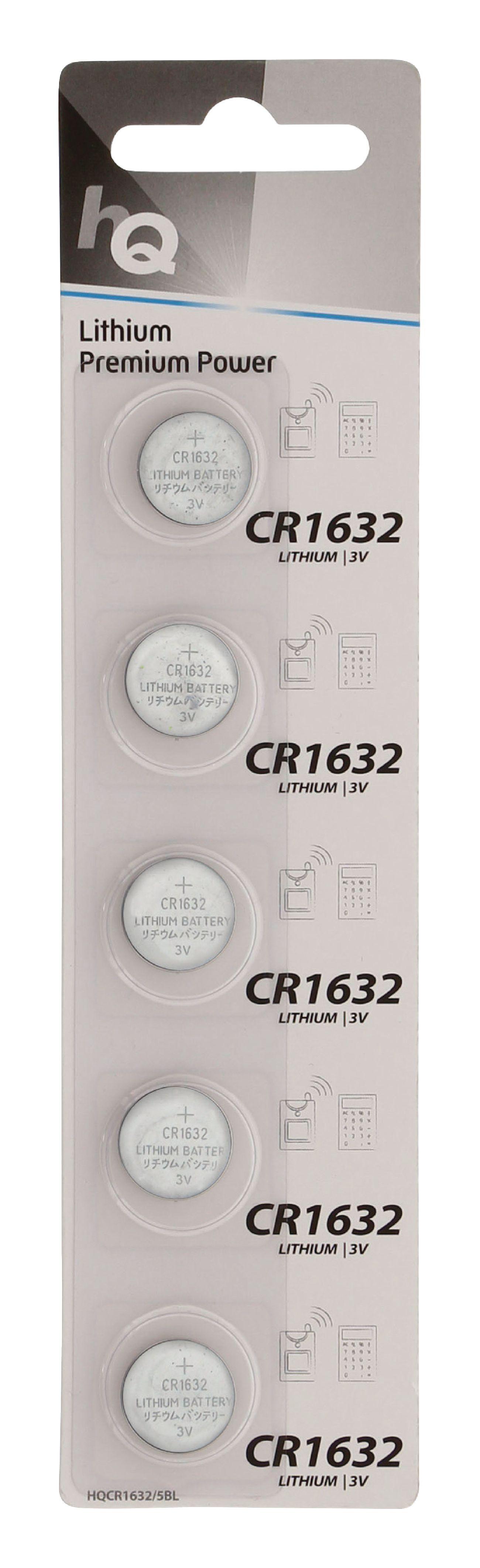 HQ lithiové knoflíkové baterie CR1632