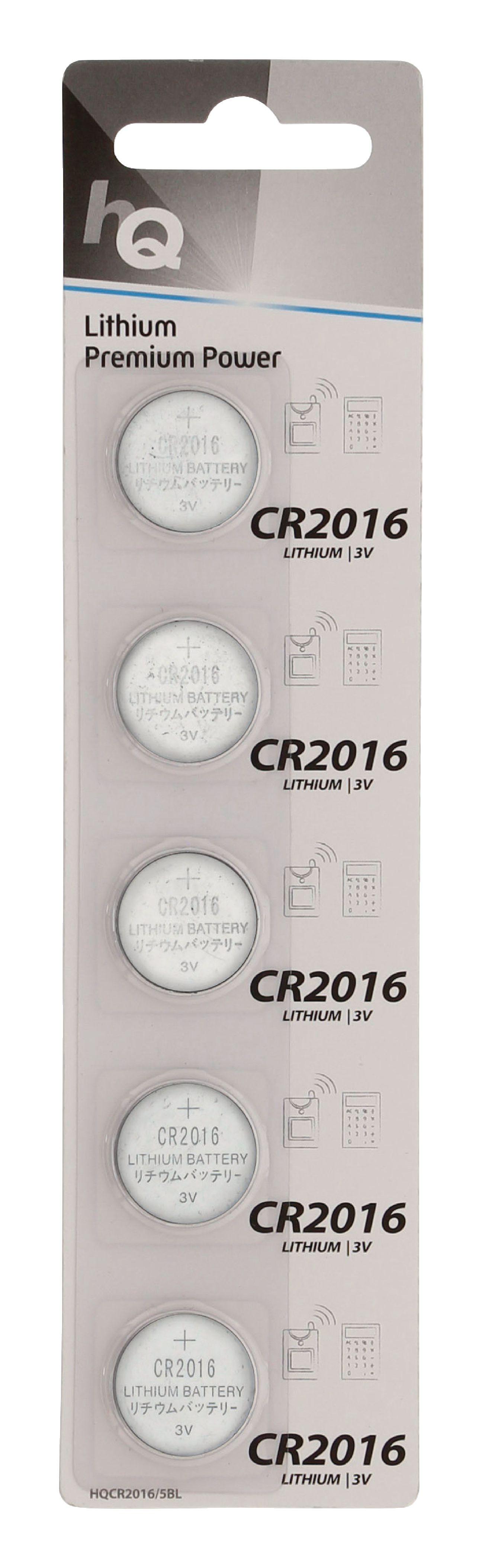 HQ lithiové knoflíkové baterie CR2016