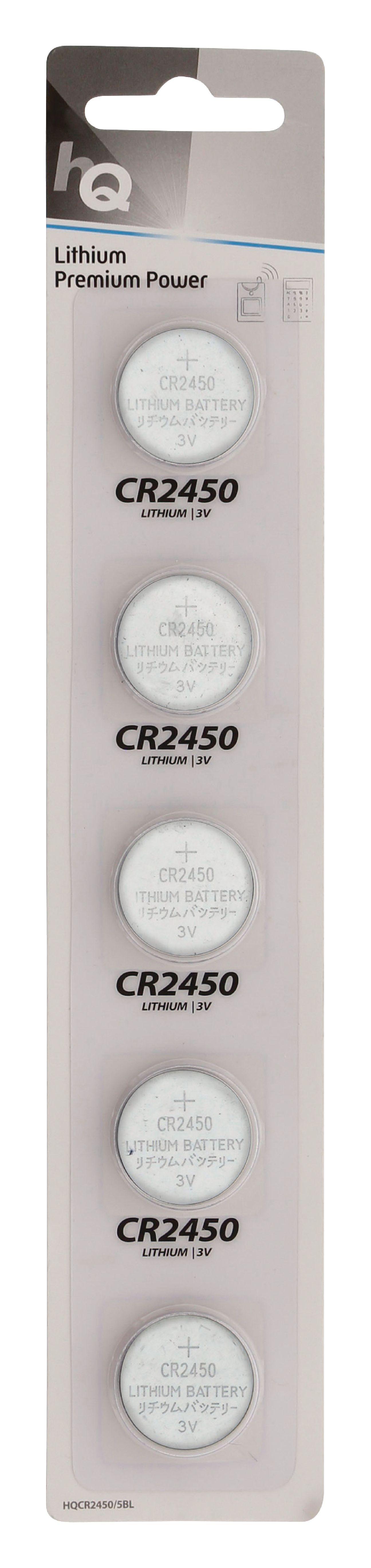 HQ lithiové knoflíkové baterie CR2450