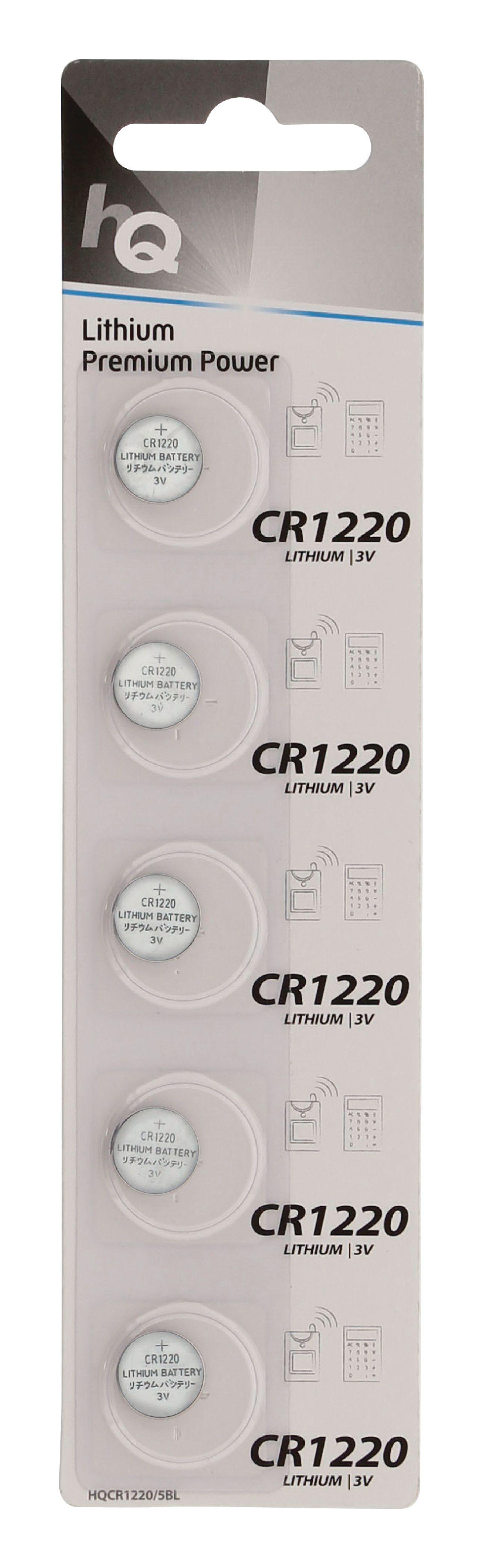 HQ lithiové knoflíkové baterie CR1220