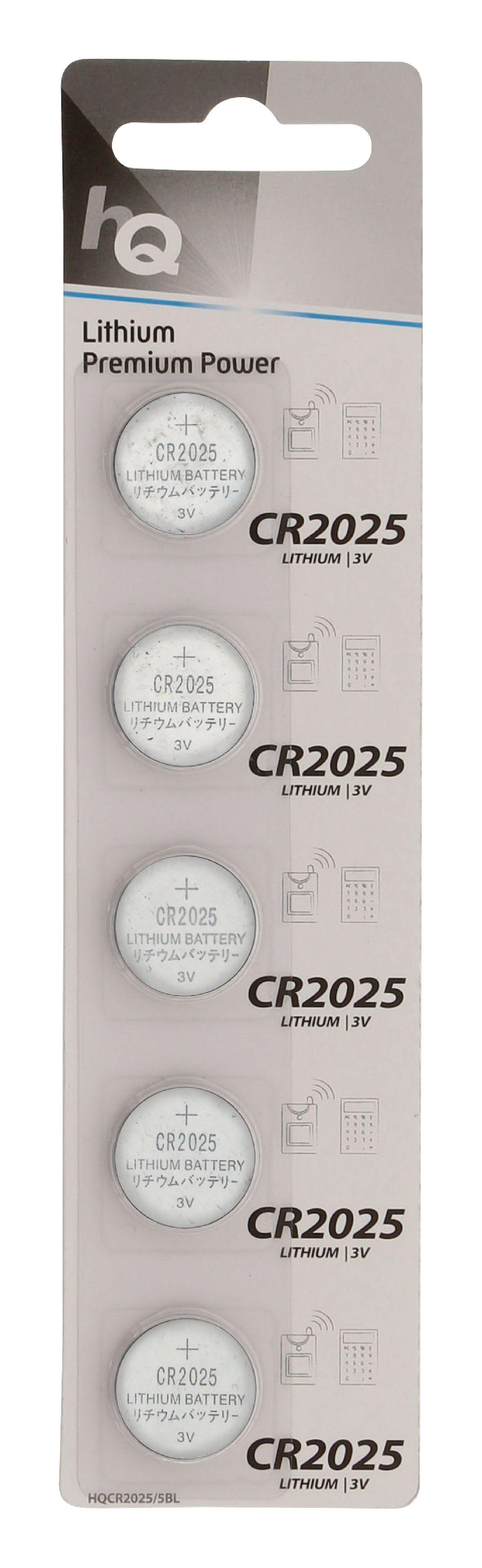 HQ lithiové knoflíkové baterie CR2025