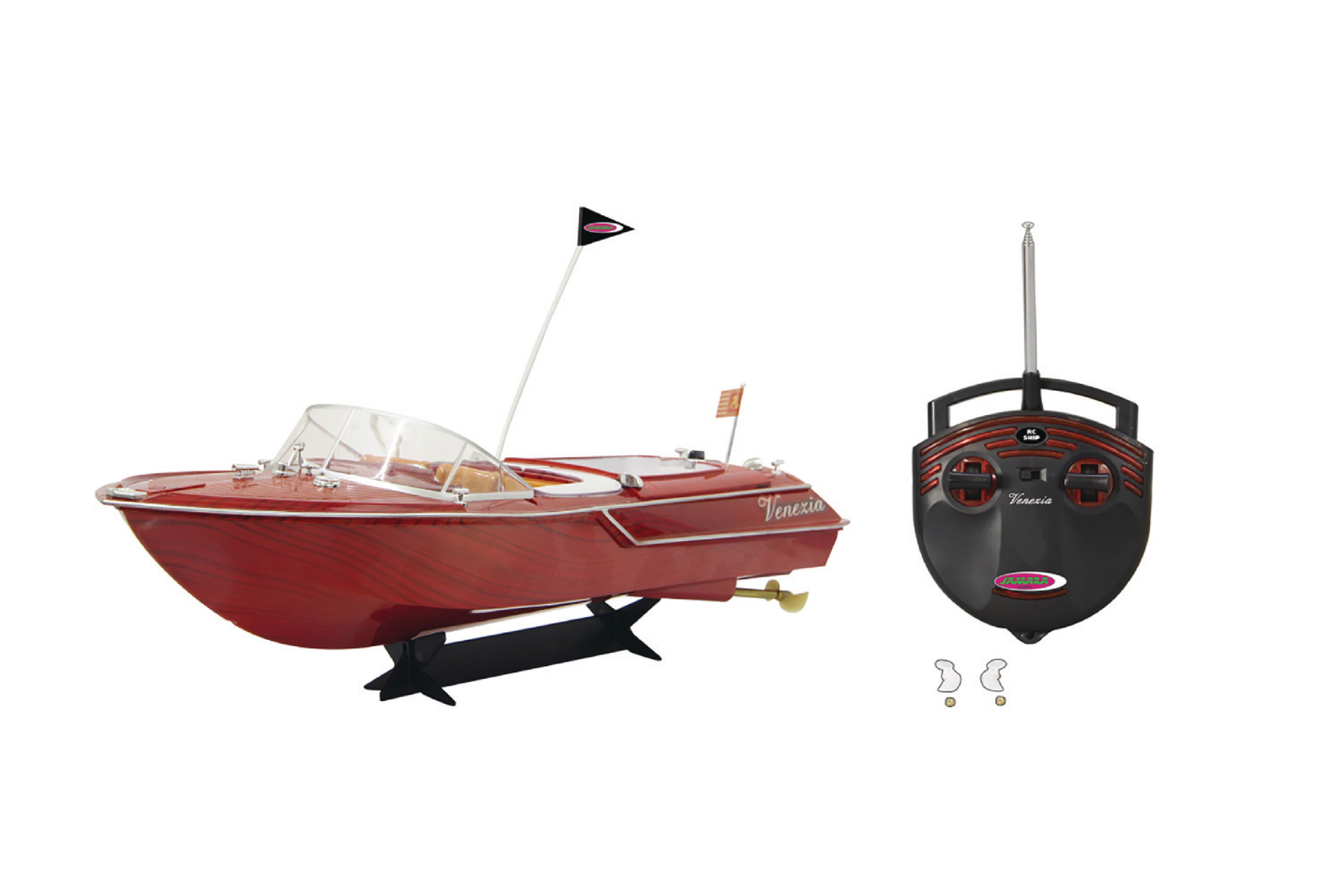 Loď jachta Venezia na dálkové ovládání 40MHz, červená Jamara JAM-040390