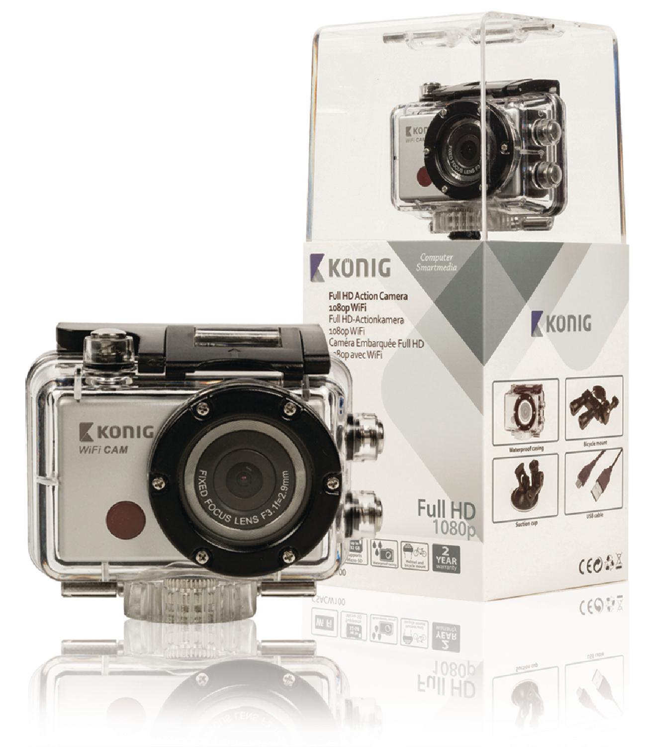 Full HD sportovní kamera s WiFi König CSACW100