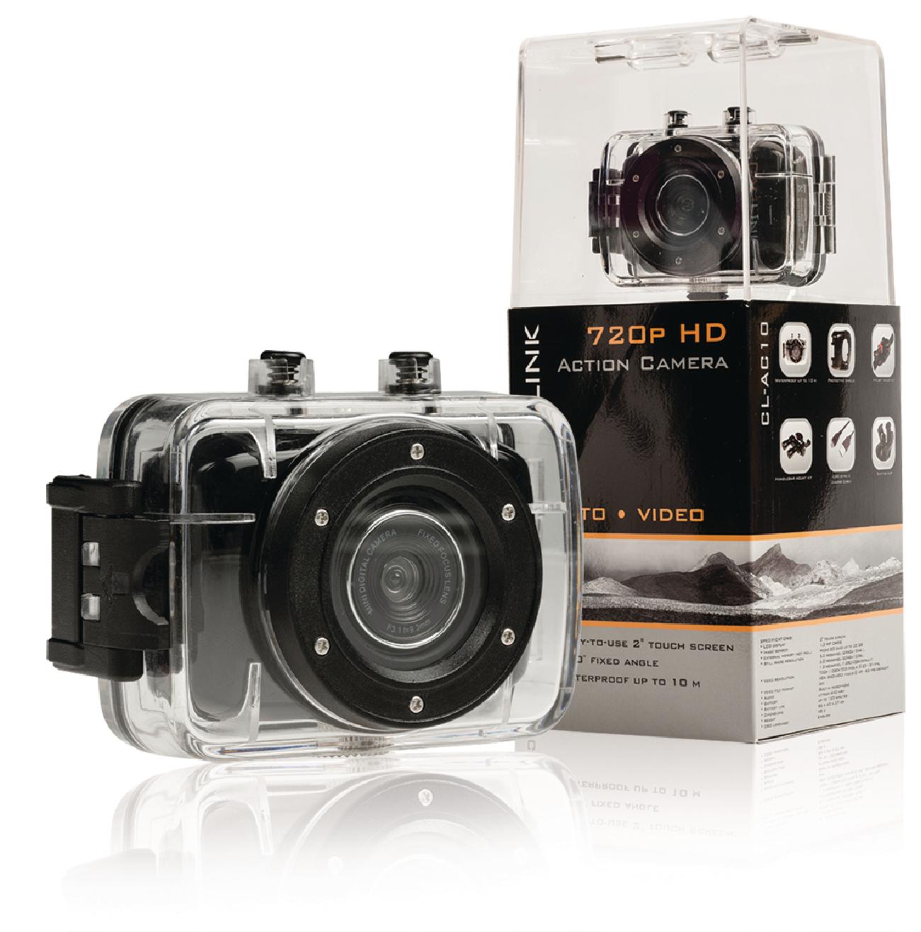 """HD sportovní kamera s 2"""" dotykovým displejem Camlink CL-AC10"""