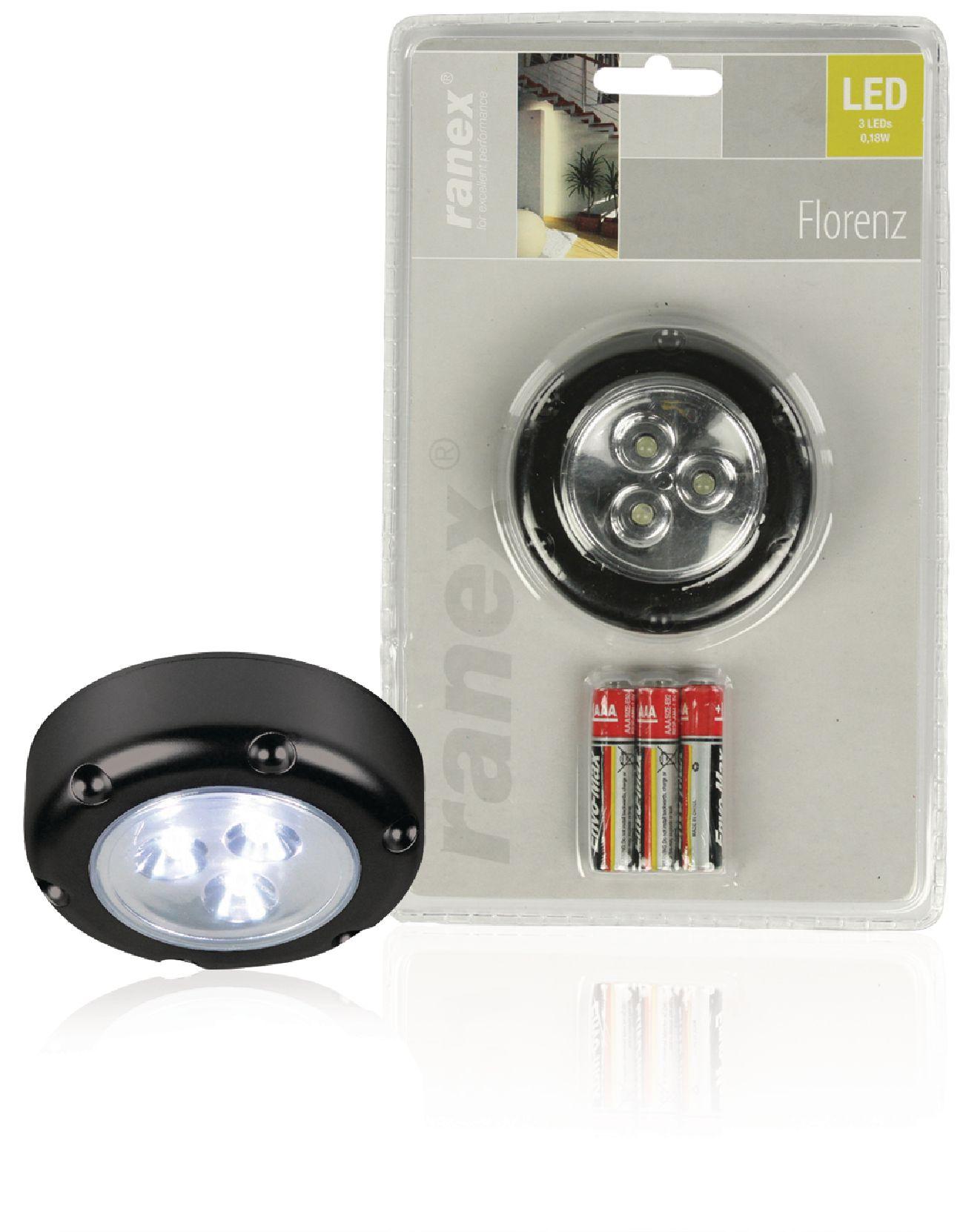 LED dotykové bateriové svítidlo Florenz, černé Ranex RA-6000076