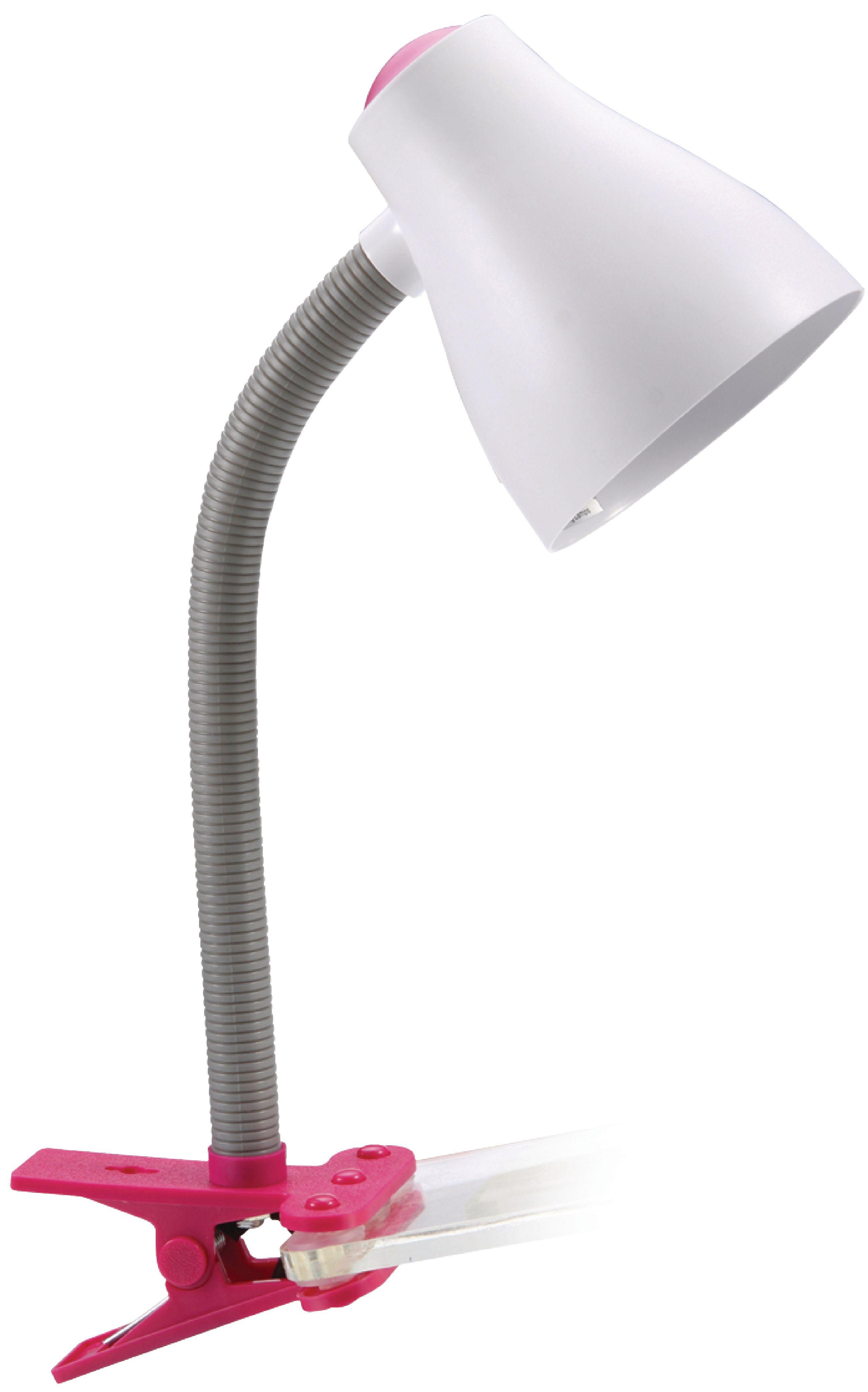 Stolní lampička s klipem Ranex Manou růžová RA-6000630