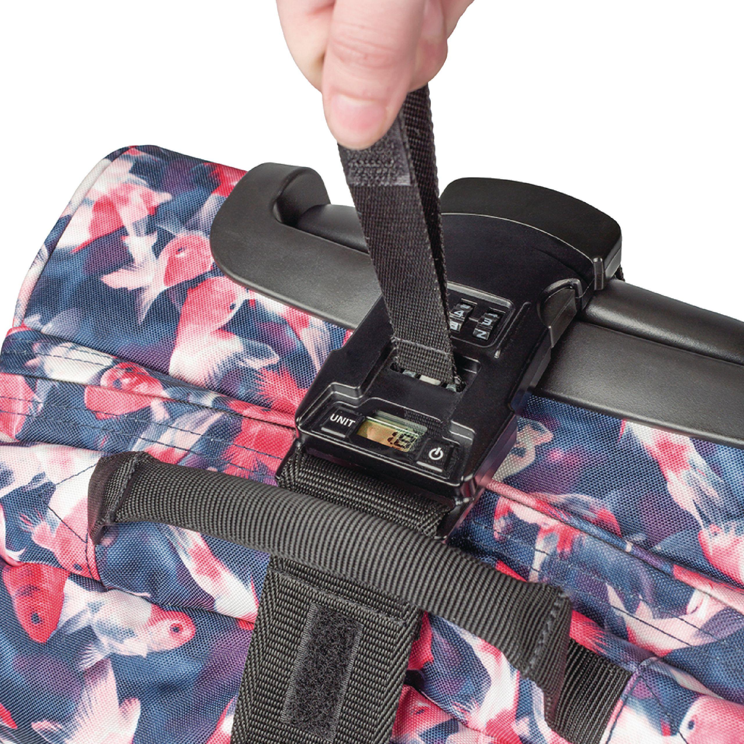 Popruh na zavazadlo s váhou a zámkem König KN-SL10